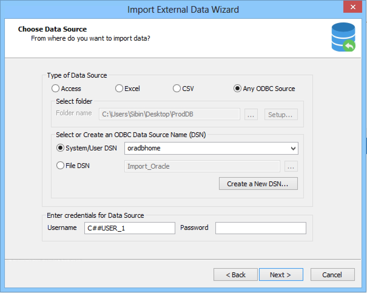 Import External Data
