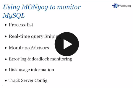 Monyog MySQL monitoring tool webinar - Part 2