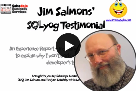 Webyog Testimonial - MySQL GUI Tools , MySQL Monitor and Manager